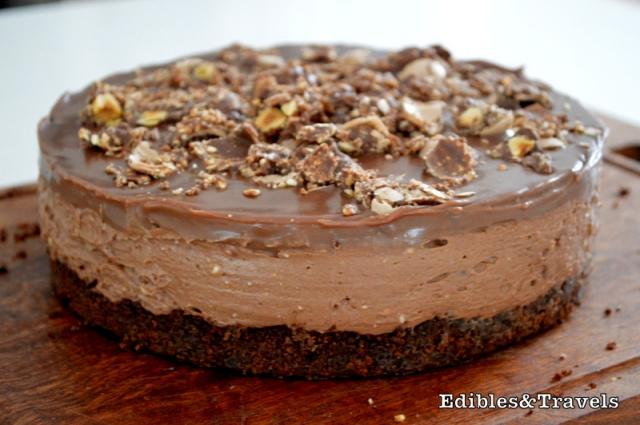 ... nutella cheesecake. I got this genius recipe from the brilliant